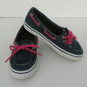 Sperry Top Siders Kids Navy Shimmer Size 1